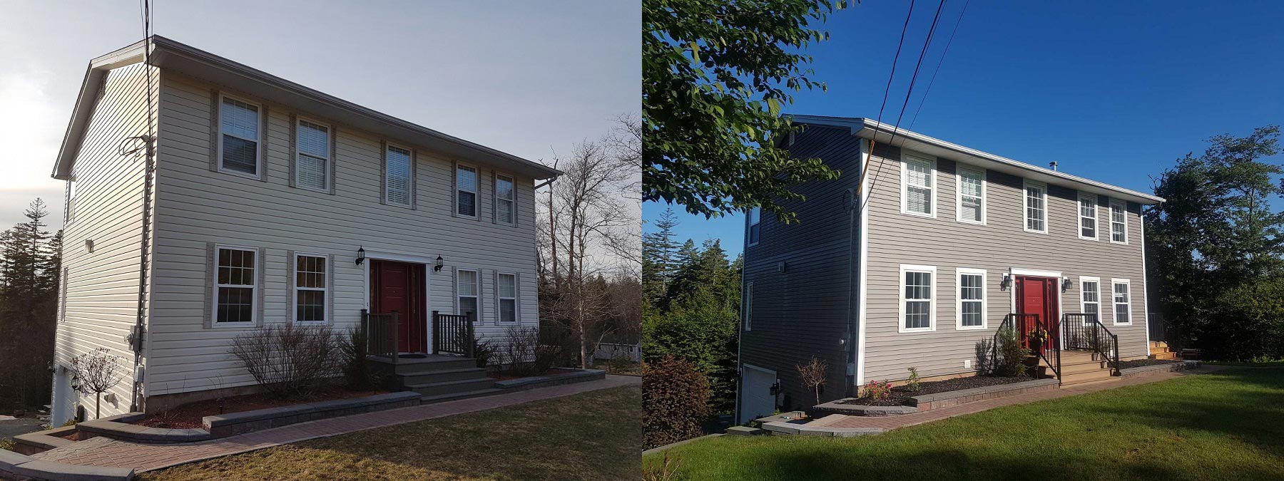 siding project before and after